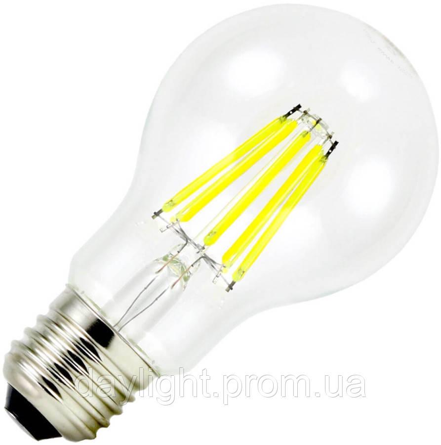Лампа світлодіодна філамент Biom 8W A60 E27 теплий білий (FL-311)