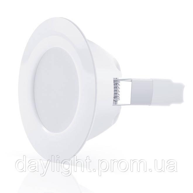 Точечный врезной светильник MAXUS 8W серия SDL теплый свет