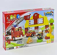 """Детский конструктор """"Пожарная станция"""" для мальчика JDLT 5153 с звуком и светом (69 деталей)"""