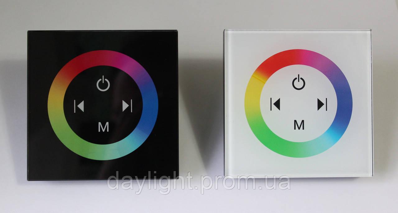 Контролер RGB 12А вбудований сенсорний білий/чорний