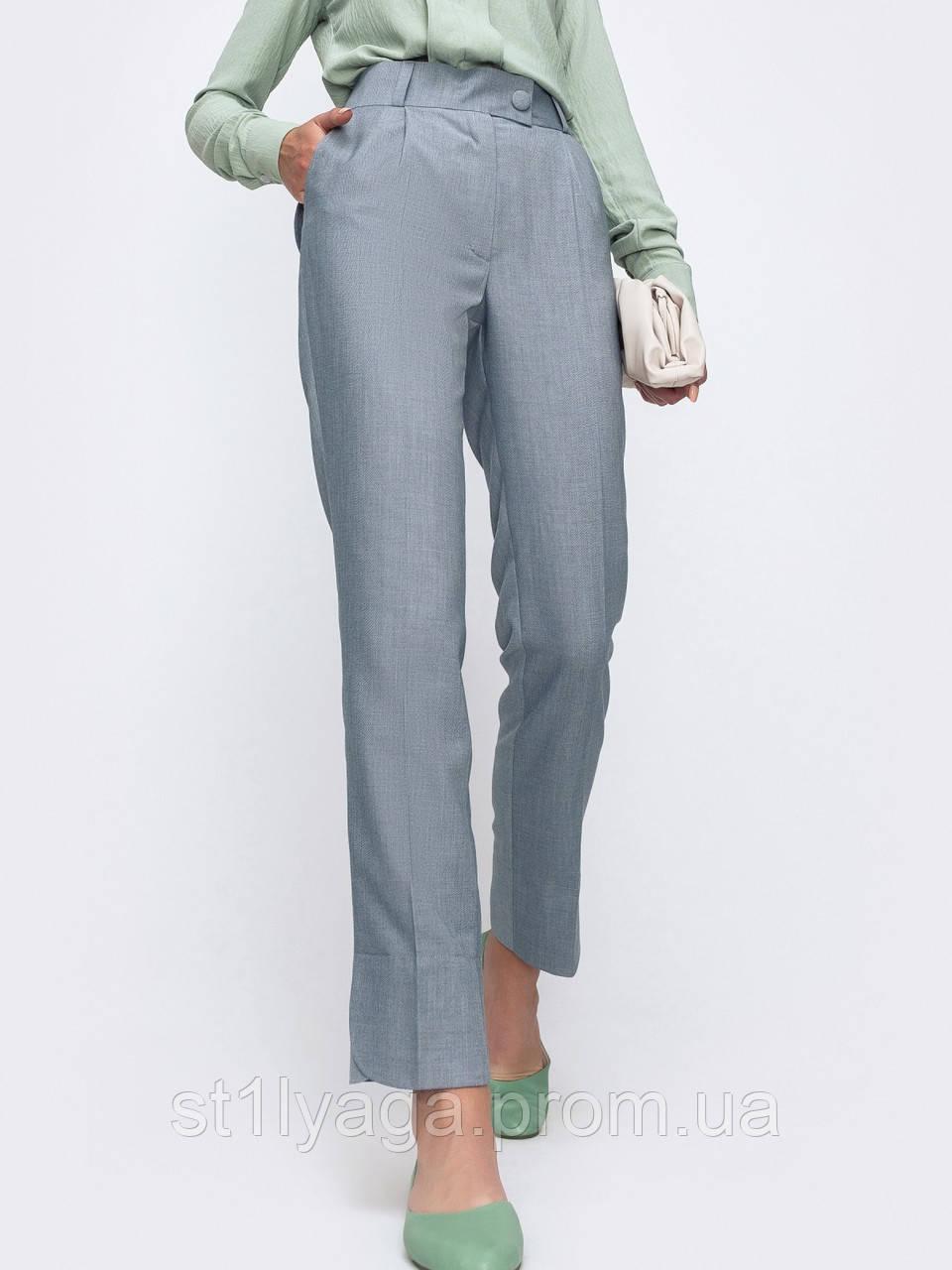 Зауженные брюки с поясом на резинке