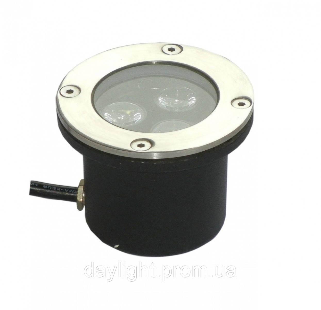Тротуарный светильник 3W 6500k Lemanso