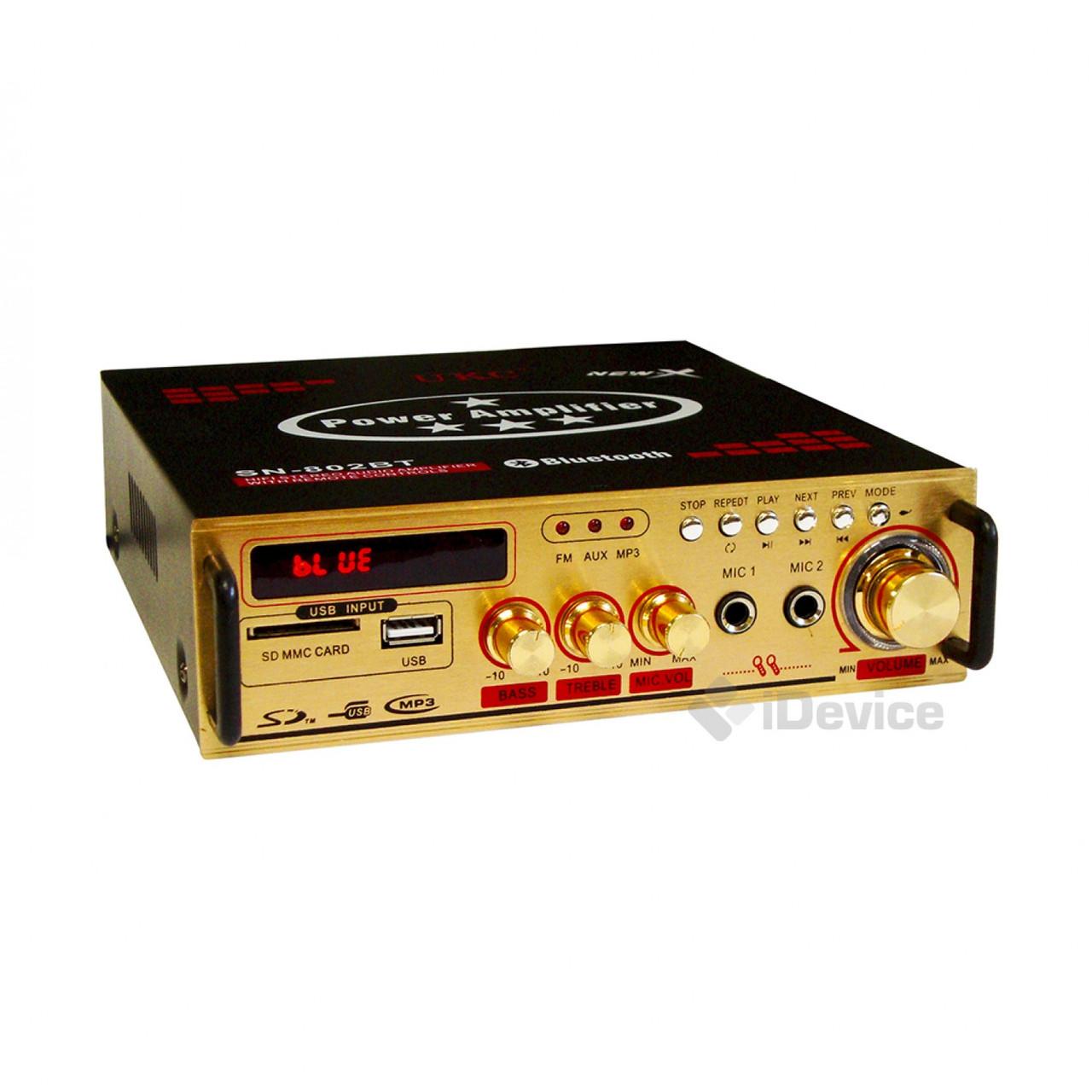 Стерео-усилитель звука UKC SN-802BT Bluetooth
