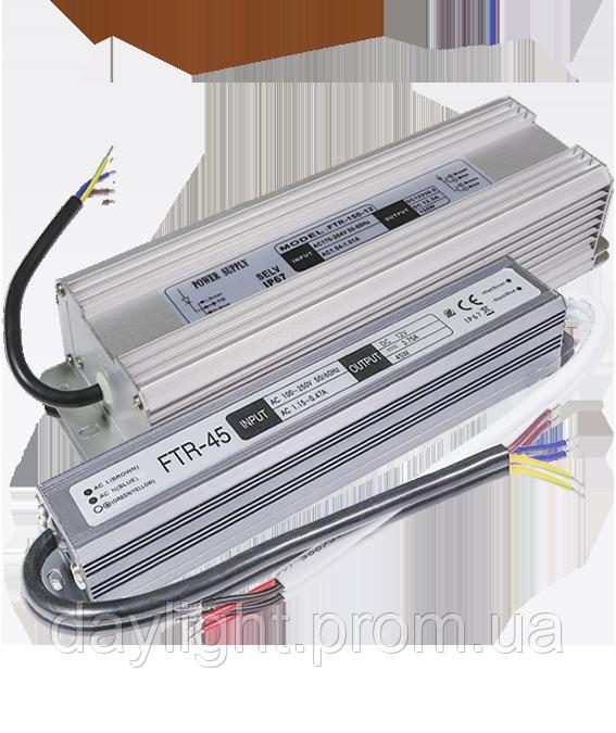 Блок питания 12v герметичный 200W 16.6A FTR для светодиодной ленты