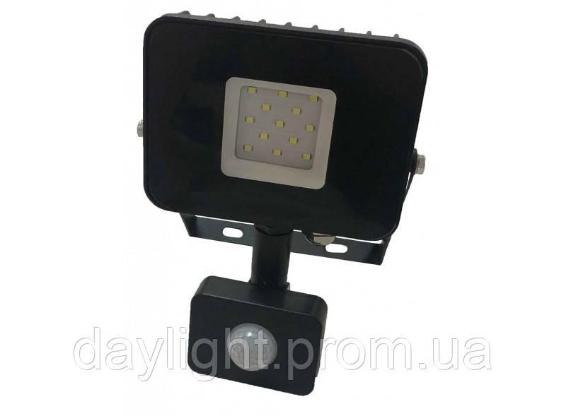 Прожектор с датчиком движения 10w 6500K 770lm  Luxel