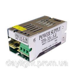 Блок питания 12v 15W 1.25A TR для светодиодной ленты