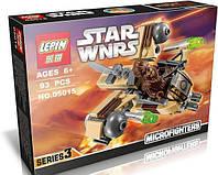 Конструктор LEPIN STAR WARS, аналог LEGO 93 предмета Бойовий корабель Вуки, Конструктор STAR WARS