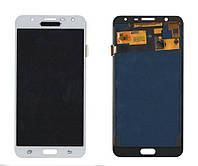 Дисплей + сенсор Samsung J701 J7 CORE Білий TFT LCD, з регулюванням яскравості