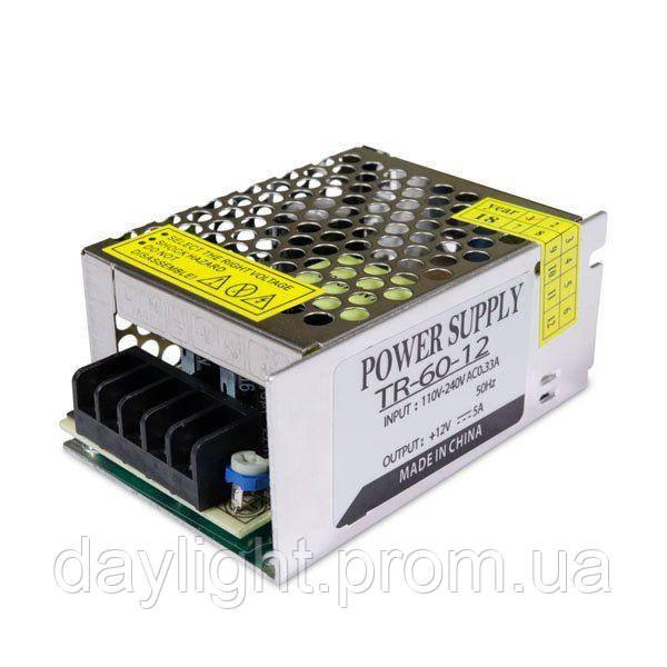 Блок питания 12v 60W 5A TR для светодиодной ленты