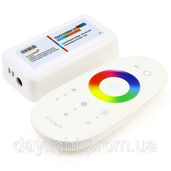Контроллер RGB 18А сенсорный белый/черный