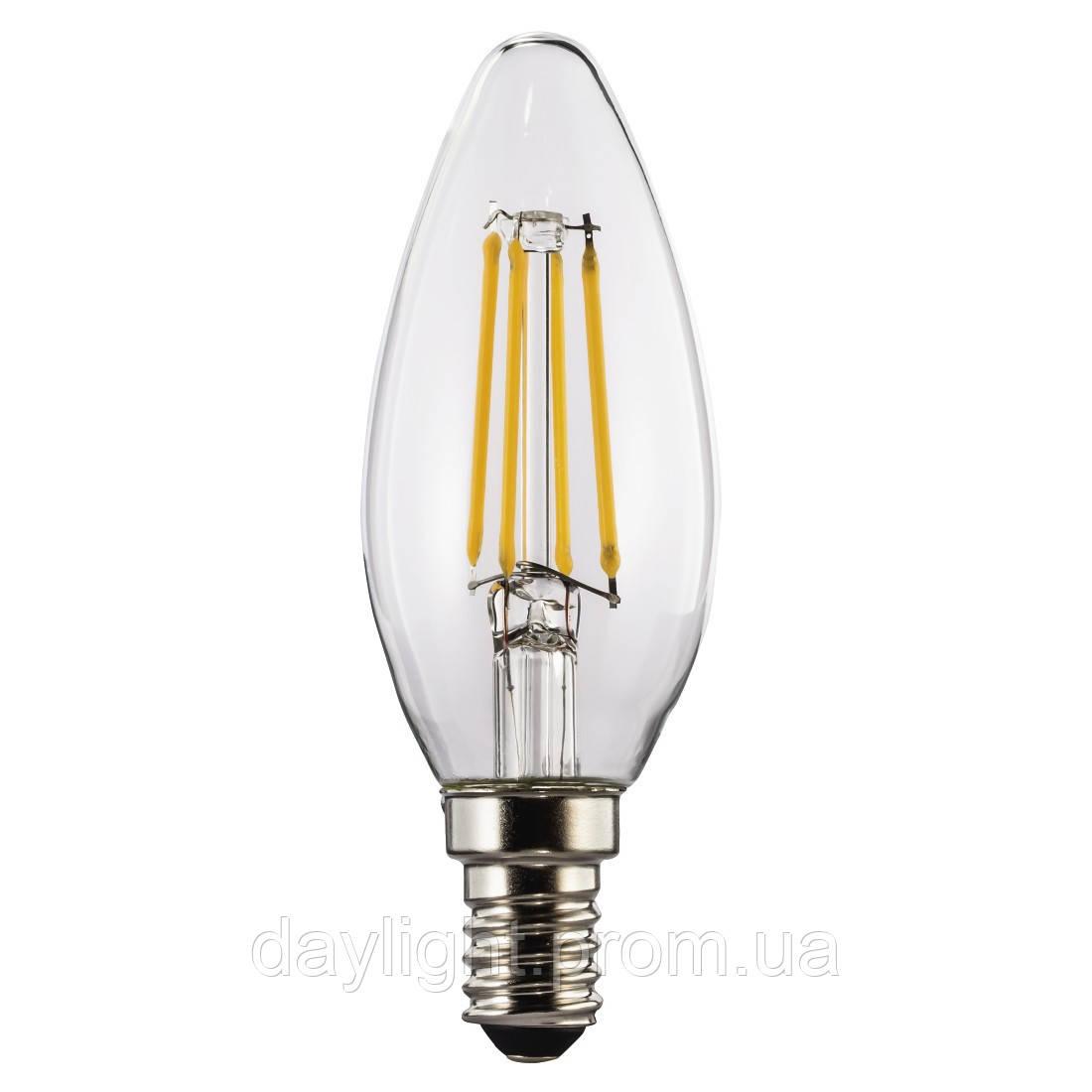 Лампа светодиодная филамент свеча 4W 2700k E14 Biom