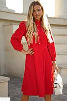 Стильное женское осеннее платье S M L XL