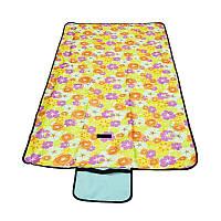 Раскладной коврик для пикника 145х80 см, желтый (GIPS), Туристические коврики