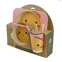 Набір дитячої бамбуковій посуду, пташеня (GIPS)