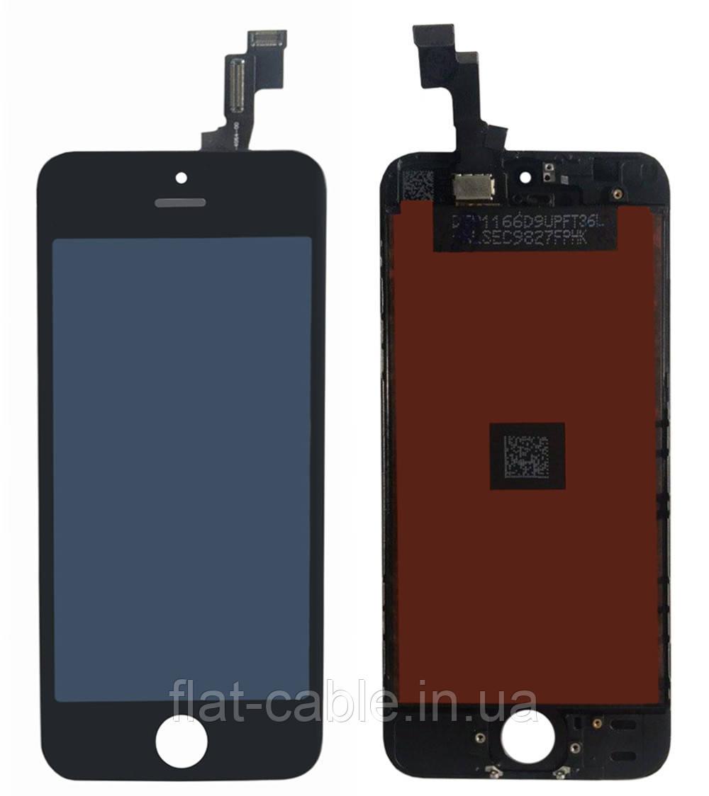 Дисплей (модуль) iPhone 5S iPhone SE с cенсором чёрный Original (PRC)