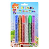 Клей для рисования с блестками 6 цветов