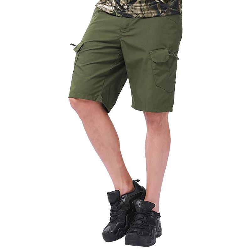 Тактические шорты Lesko IX-7 Green размер S мужские повседневные армейские