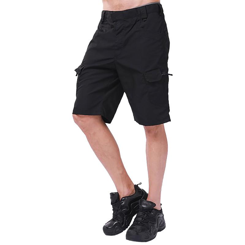 Тактические шорты Lesko IX-7 Black размер S мужские повседневные армейские