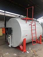 Мобильный топливный модуль, цилиндрический резервуар на 10 000 литров, после капитального ремонта