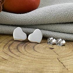 Серебряные серьги-гвоздики ТС520176 размер 7х7 мм вес 1.23 г
