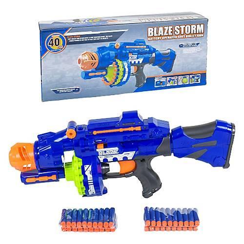 Детский игрушечный автомат Blaster бластер с поролоновыми мягкими пулями 7051