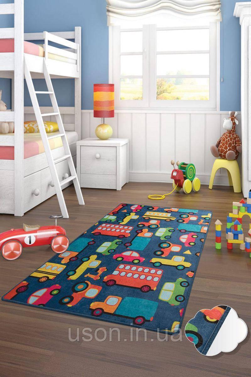 Коврик прямоугольный в детскую комнату Chilai Home Cars mavi