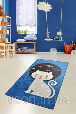 Коврик прямоугольный в детскую комнату Chilai Home Cat and fishes