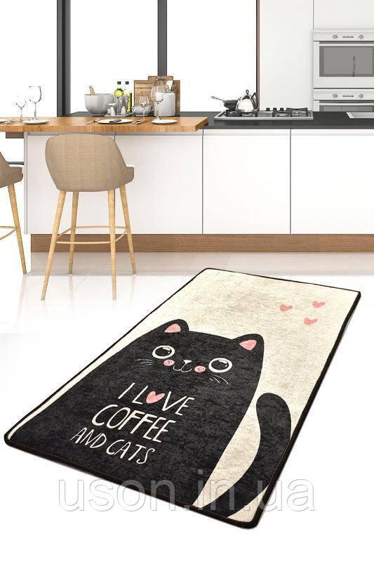 Коврик прямоугольный в детскую комнату Chilai Home I love cat