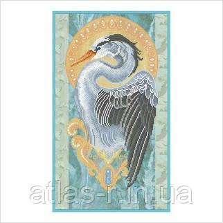 """А4 """"Солнечная птица"""" схема для частичной вышивки бисером"""