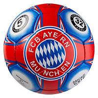 Мяч футбольный 5 размер БАВАРИЯ МЮНХЕН BAYERN MUNCHEN Ручная сшивка Сине-красный (СМИ GR4-426FLB), фото 1