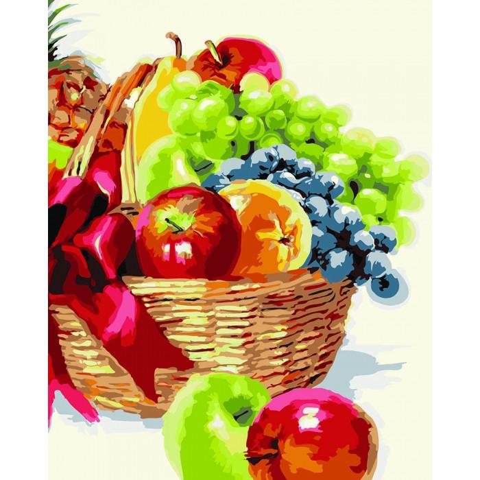 """Картина по номерам. Цветы, Фрукты """"Корзинка фруктов"""" 40х50см KHO2910"""