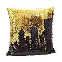 Подушка антистресс с пайетками-перевертышами черный/золото HMD 98-9721006