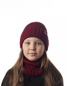 Зимовий вязаний комплект для дівчинки - Артикул 2536 оптом