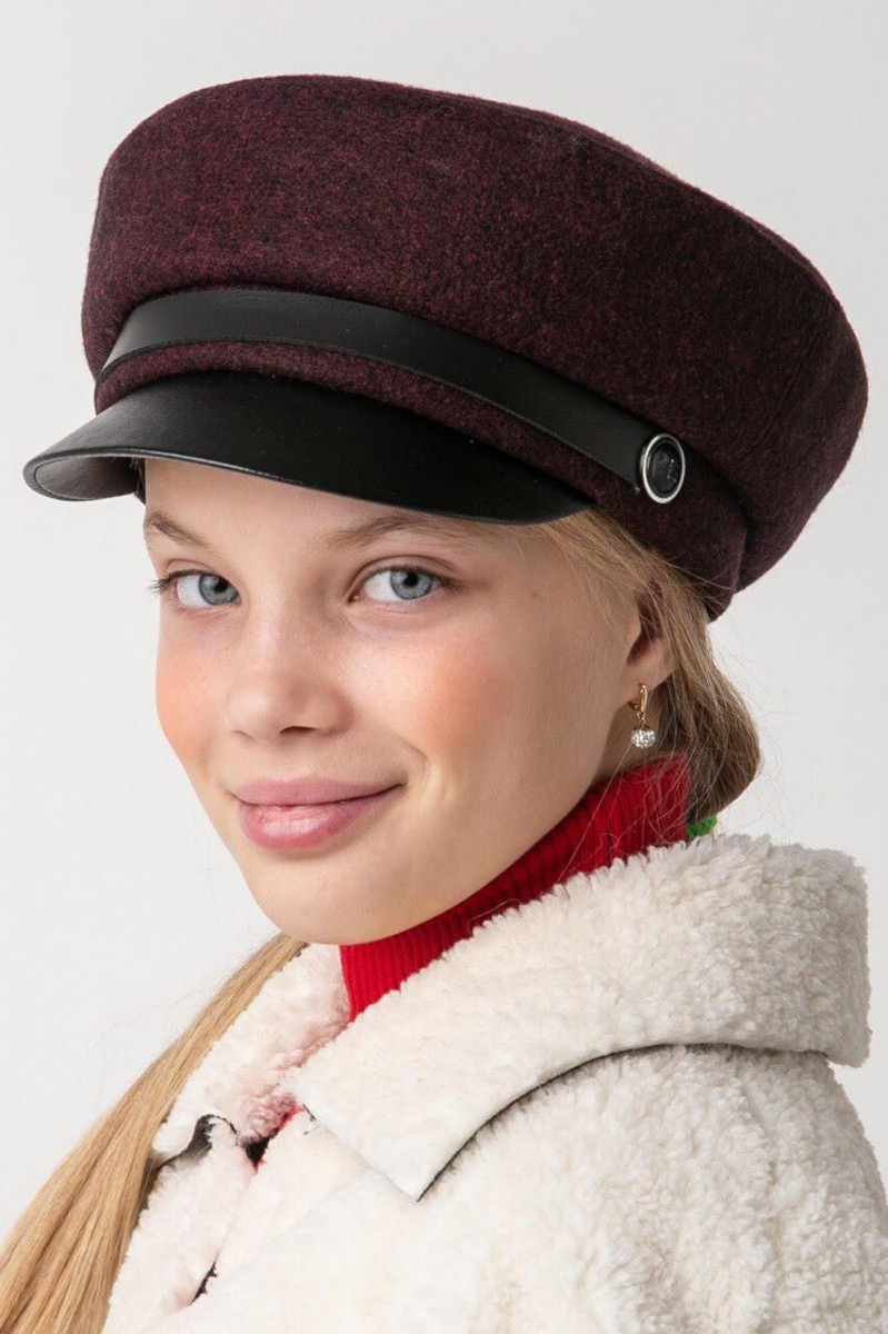 Зимняя кепи для девочек с подкладкой из флиса -Ванда оптом