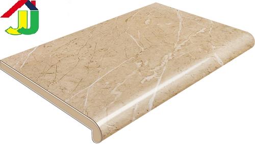 Подоконник Plastolit Мрамор Бежевый Глянец 200 мм влагостойкий, устойчивый к царапинам, для окон