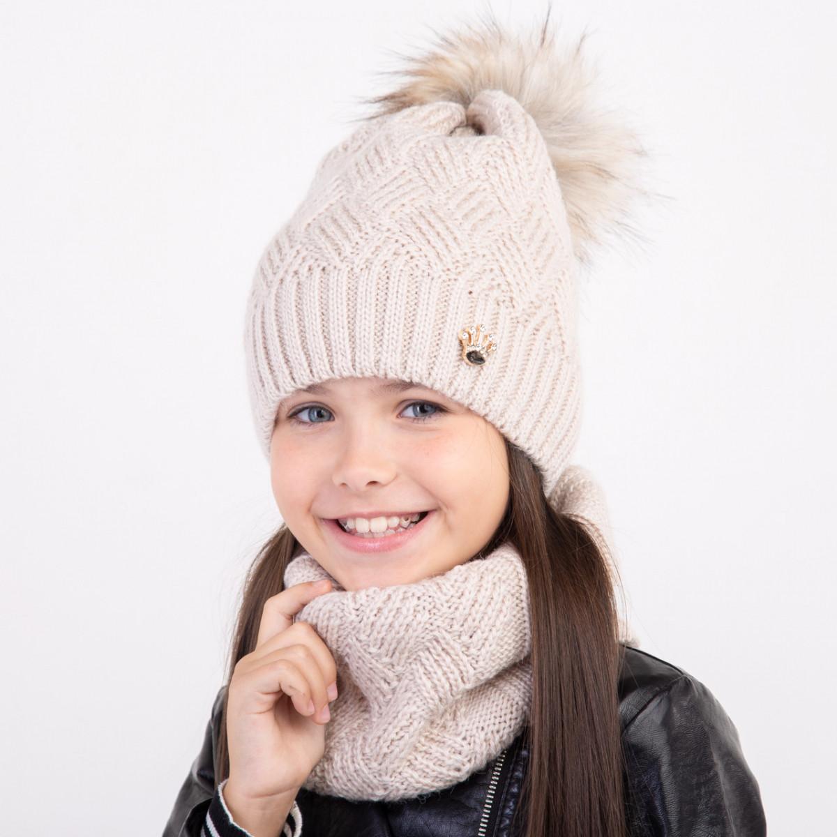 Стильный комплект на зиму для девочки - Артикул 2377