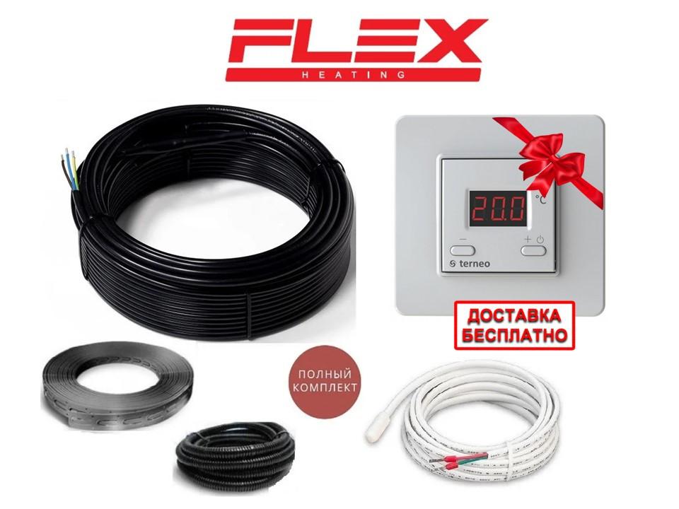 Електрический кабель для теплого пола  Flex 3,5м2- 4,2м2- 612.5Вт (35м)  с Terneo SТ Премиум (Р) KIT 6607