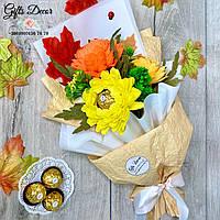 Букет из конфет «ОСЕННИЙ ВАЛЬС» / Подарок учителю / воспитателю на 1 сентября