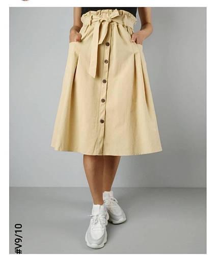Женская юбка длина миди с карманами