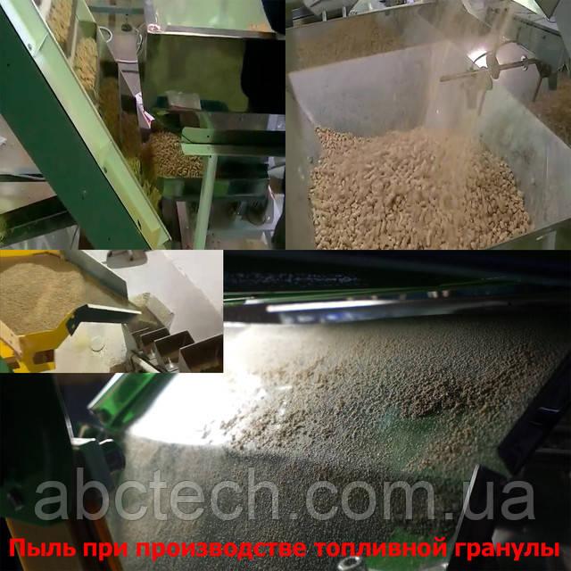 Пил при виробництві пелети