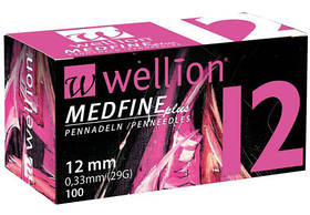 Иглы Wellion (Веллион) 29G для шприц-ручек 12 мм Wellion 100 шт.