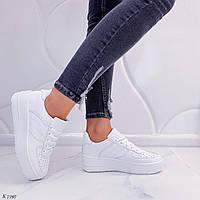 Женские белые кроссовки / Женская обувь / Удобные женские кроссовки, кеды / Жіночі кросівки білі