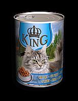 Вологий корм для дорослих котів King with Fish зі смаком риби 415 г