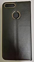 Чехол-книжка Huawei P Smart Black leather Florence, фото 2