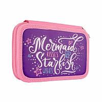 Пенал двойной Smart Mermaid 532786 14х21х4 см фиолетовый