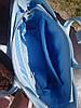 """Сумка женская """"РОНДА"""" натуральная кожа, небесно-голубая с плетенкой, фото 3"""