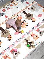 Двухсторонний складной коврик в детскую
