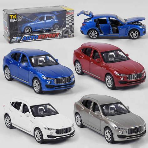 """Машина металлическая 41094 (96/2) """"Auto Expert"""", 4 цвета,  инерция, свет, звук, открываются двери, в коробке, фото 2"""