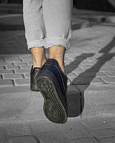 Мужские Кроссовки Nike air force 1low black / Кожа / Чоловічі кросівки, Найк/ размер 41-46, фото 3