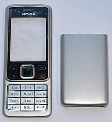 Корпус для Nokia 6300 серебро не дорогой без клавиатуры клавиатура